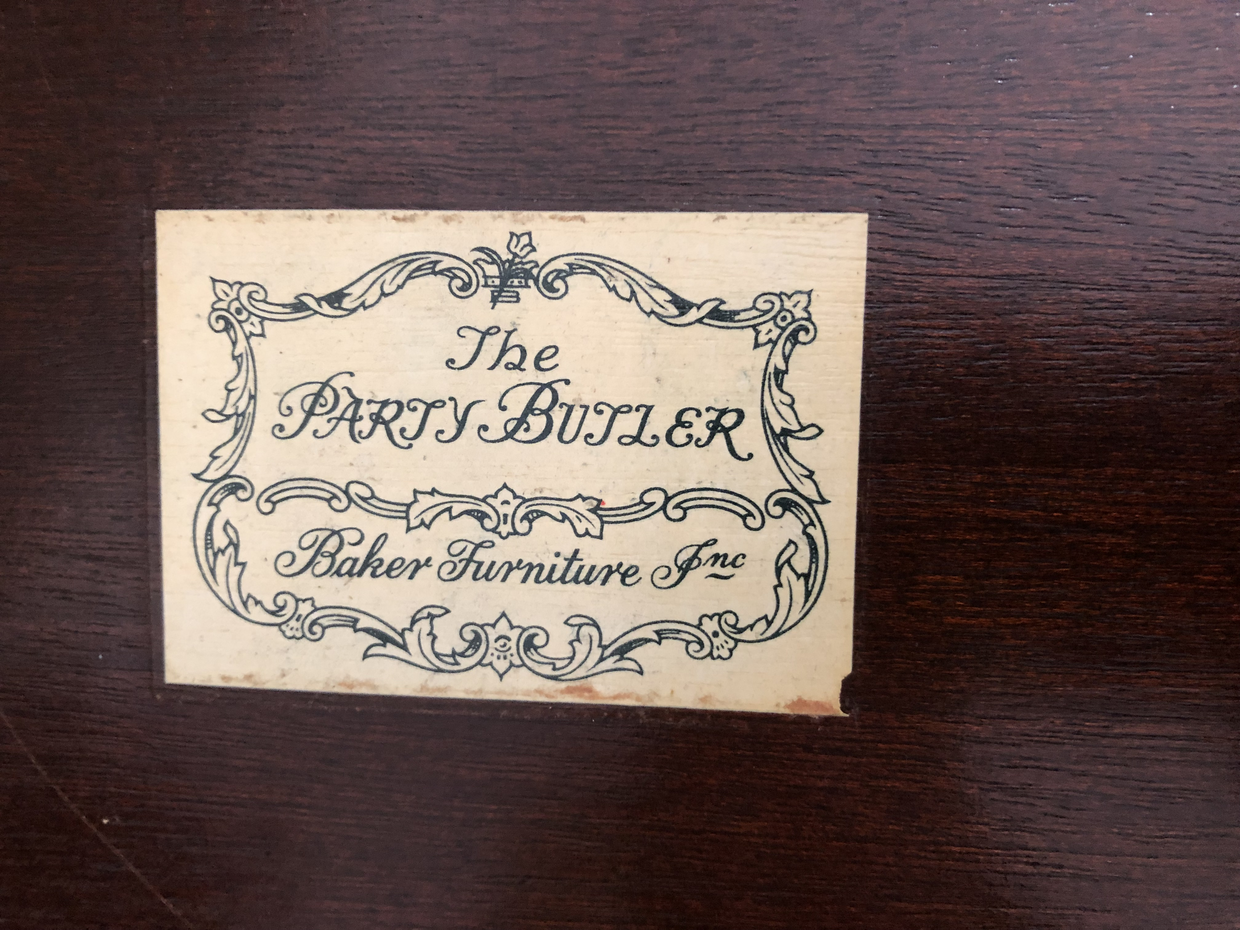 """""""The Party Butler"""" Folding Tray Table by Baker Furniture"""