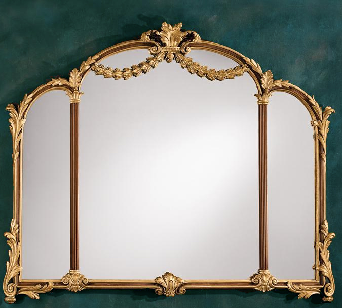 Louis XV Style Gold Carved Wood Mirror