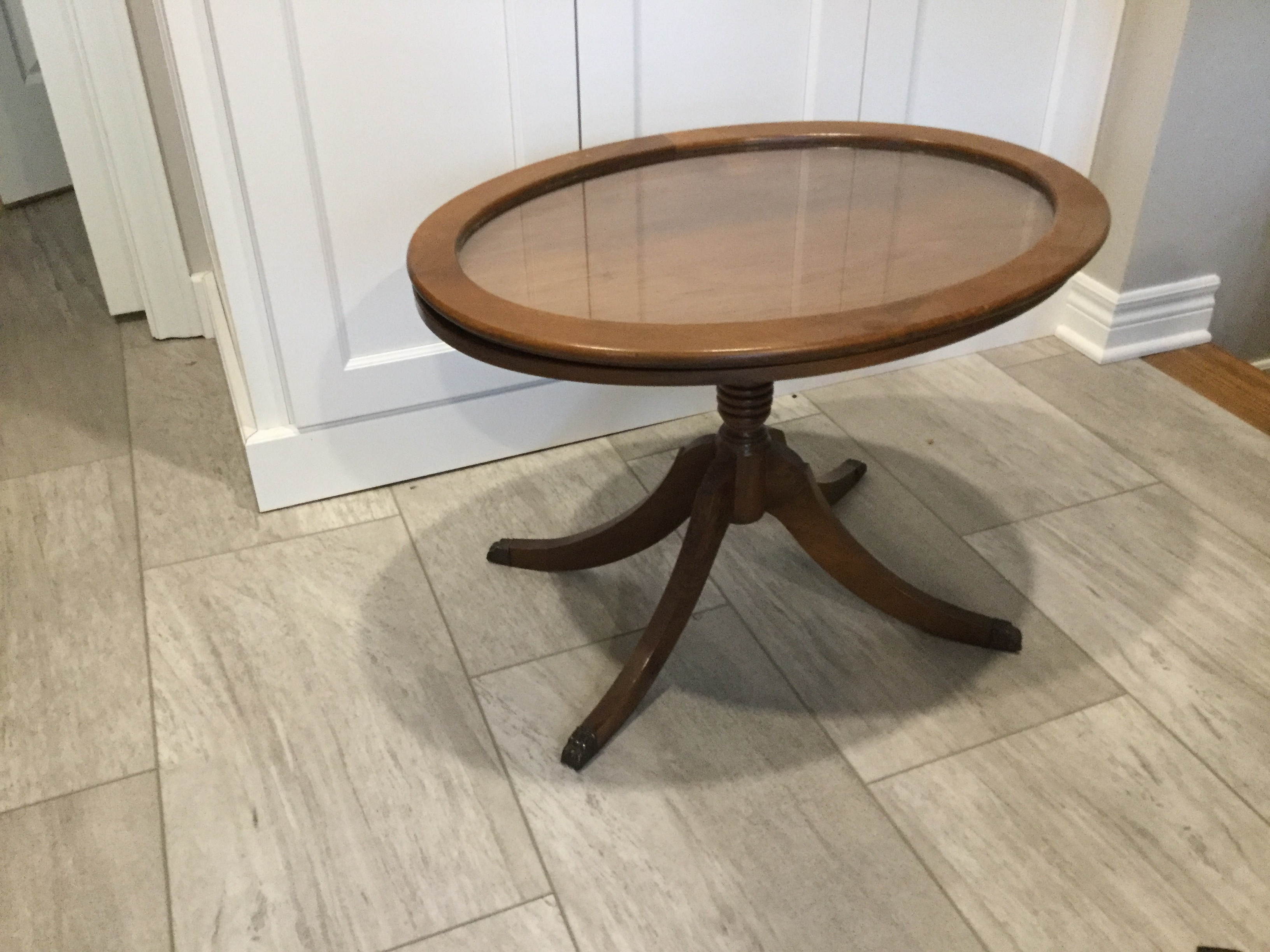 Small oval table