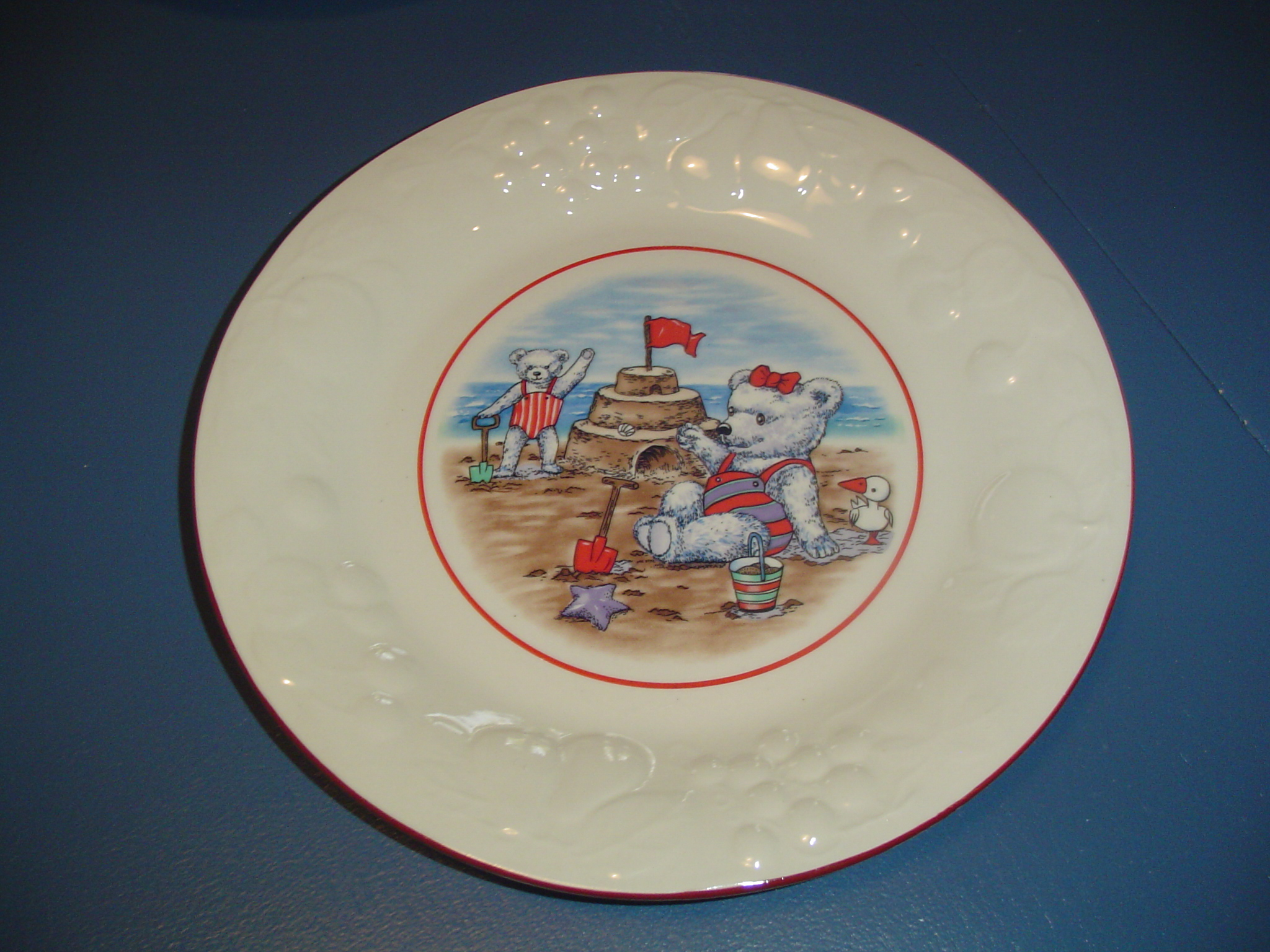 Ute Set of 4 Teddy Bear Dinner Plates Reduced 40%