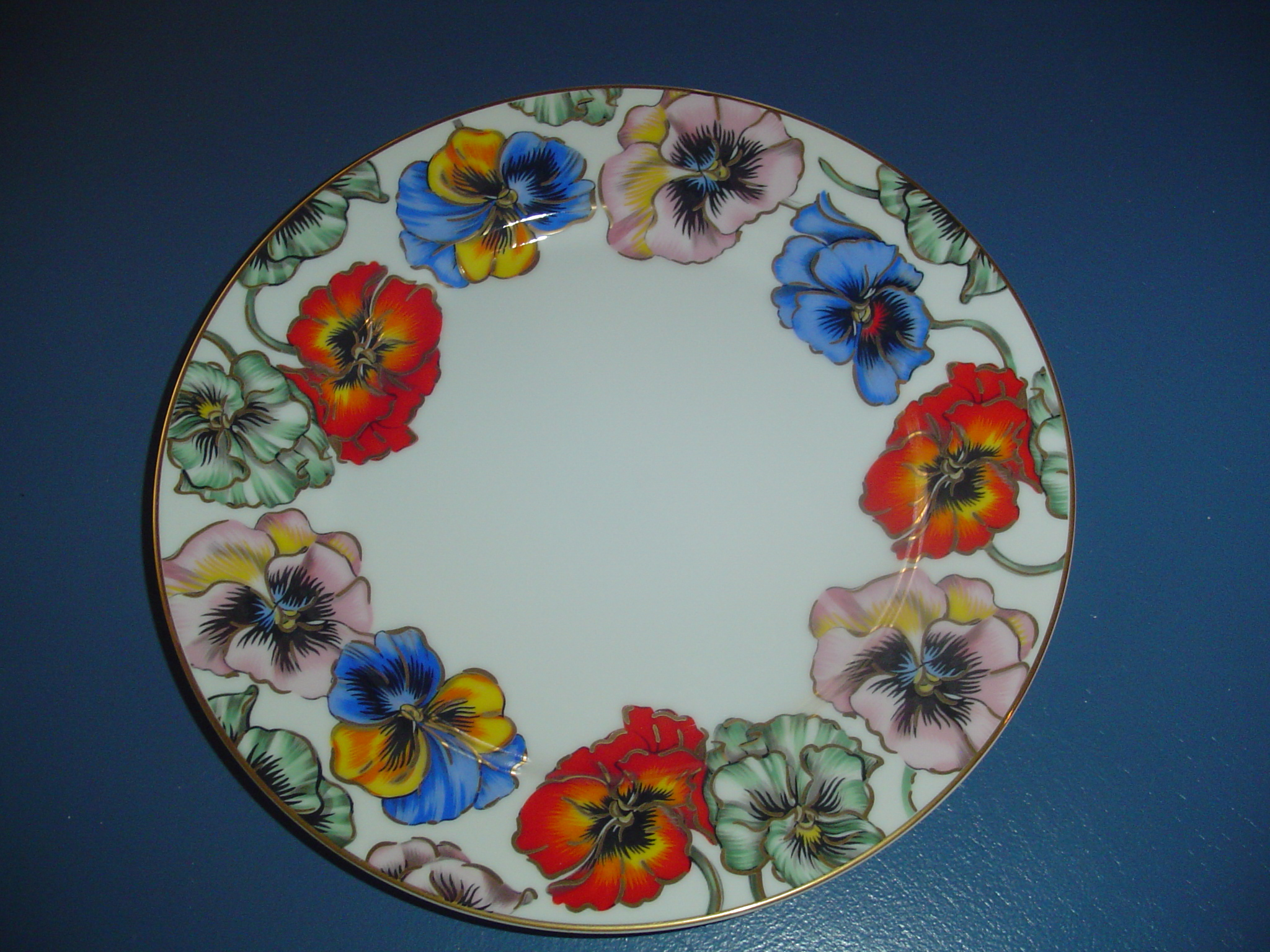 NEW Fitz & Floyd Pansies Dinner Plates Reduced 40%