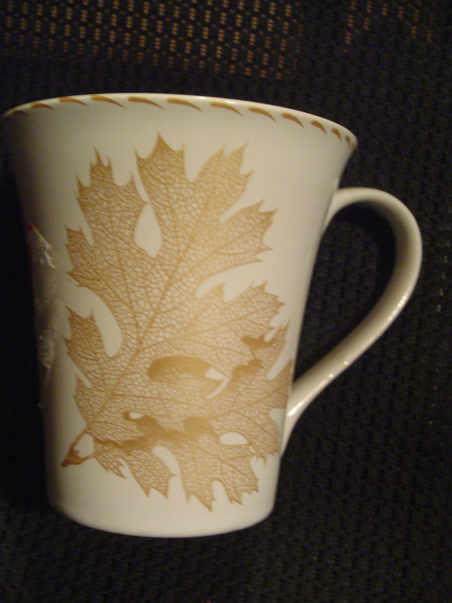 222 Fifth Avenue Gold Leaf Tall Mugs Reduced 40%