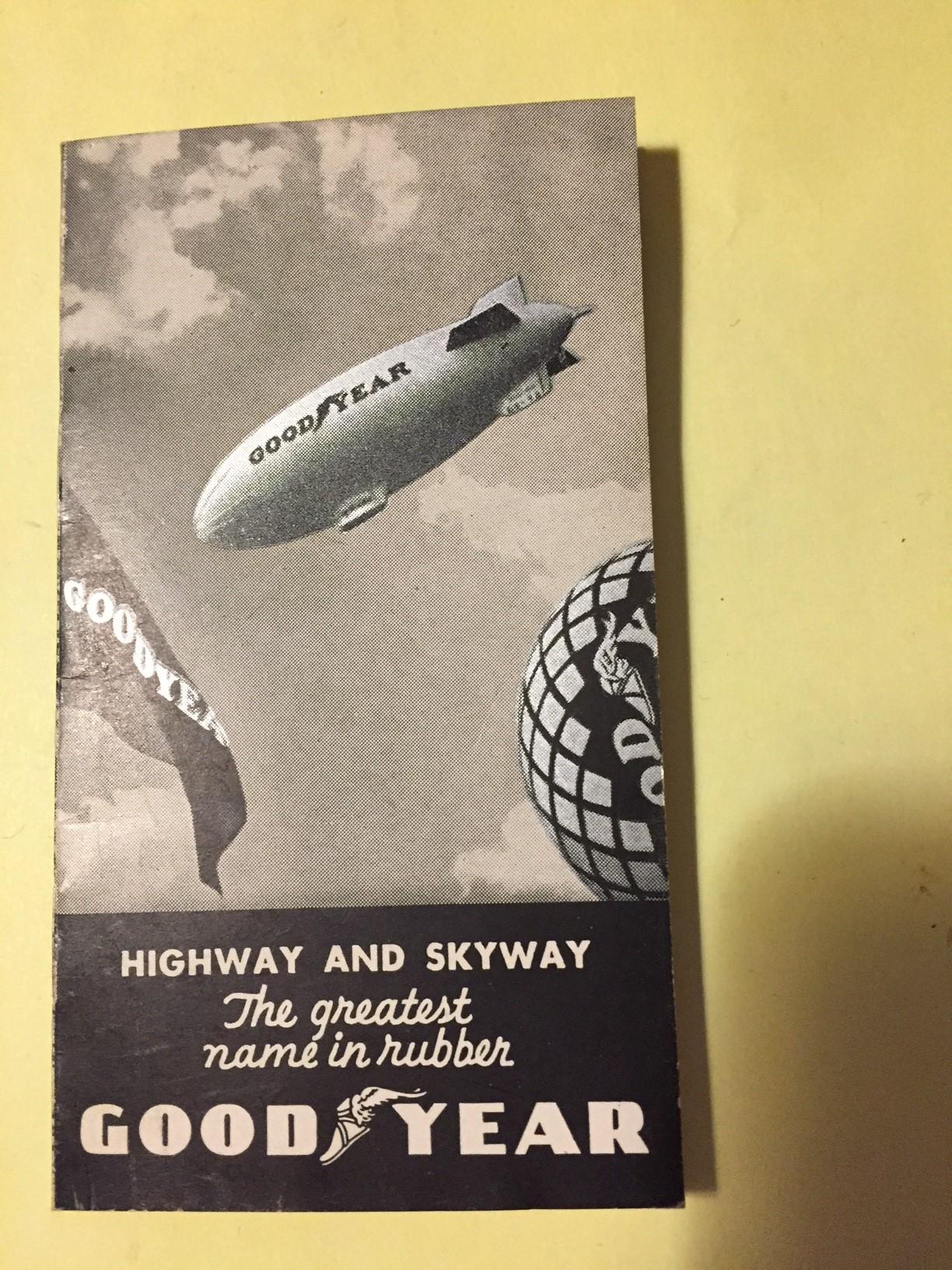 RARE 1934 FLIGHT LOG For Goodyear Airship Reliance