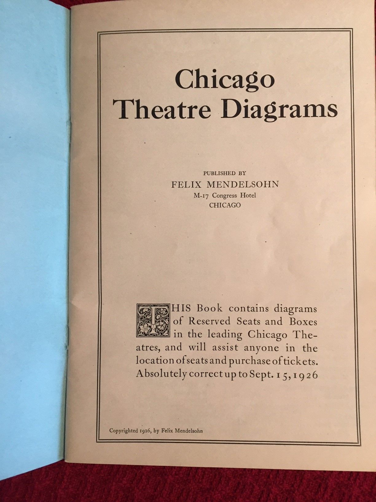 1926 Schematic of Theatres in Chicago