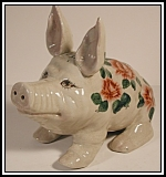 Rose pattern Wemyss Pig