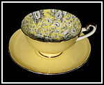 Shelley Cup And Saucer Tapestry Chintz Yellow Lincoln