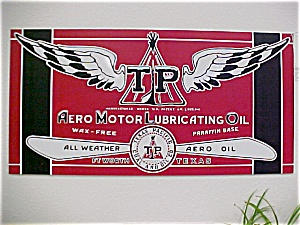 Tin Texas Pacific Oil Sign REPRO (Image1)