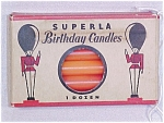 Click here to enlarge image and see more about item 42: 12 Superla Standard Birthday Candles