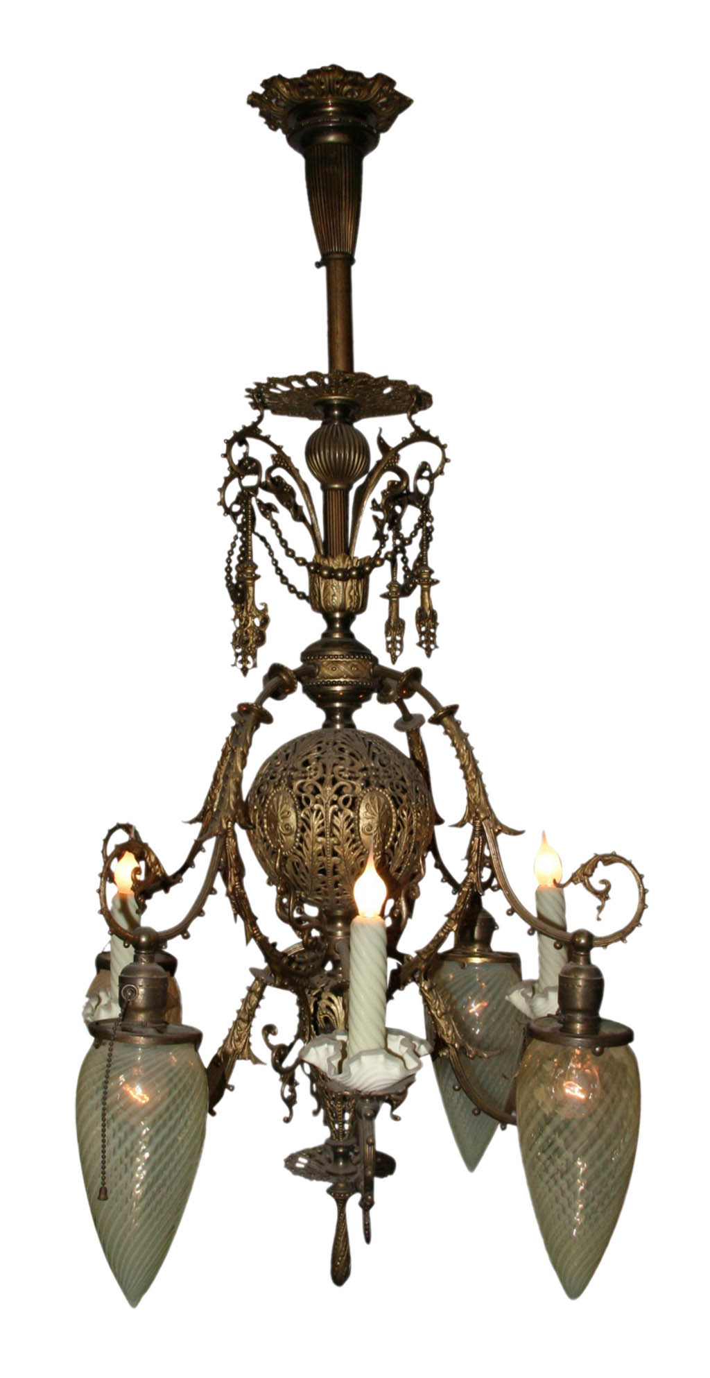 Antique gas electric chandeliers chandelier designs antique gas chandelier designs aloadofball Image collections