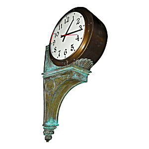 Large Vintage Bronze Wall Clock