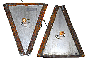PAIR OF INDUSTRIAL LIGHTING SCONCES  (Image1)