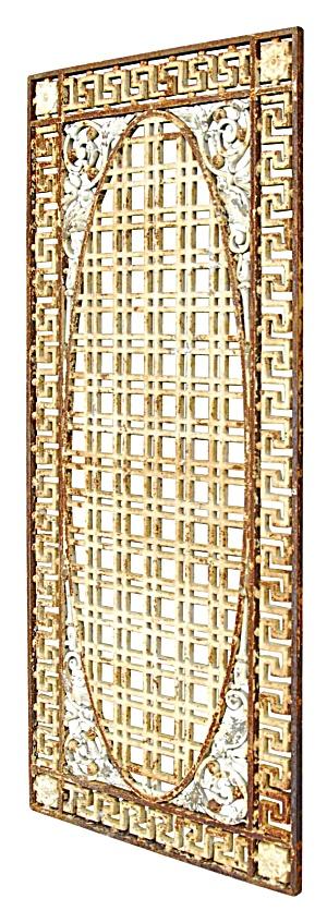 ANTIQUE CAST IRON GRILLE METAL GRATE 1930s (Image1)