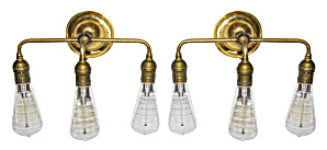 PAIR OF INDUSTRIAL WALL LIGHTS (Image1)