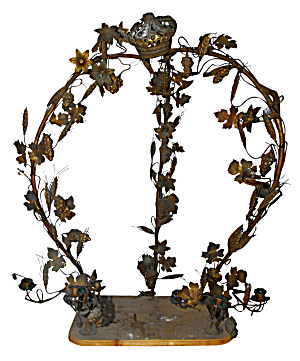 FRENCH EMBELLISHED BRASS ARBOUR CIRCA 1920S  (Image1)