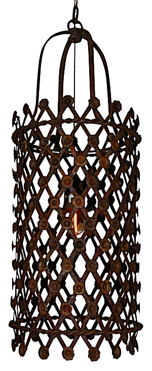 RUSTY IRON CAGE BISTRO LIGHT FRENCH STYLE (Image1)