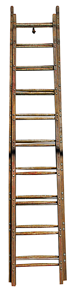 Wood Ladder With Brass Details