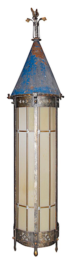 ANTIQUE GOTHIC HANGING LIGHT CIRCA 1910 LIGHT (Image1)