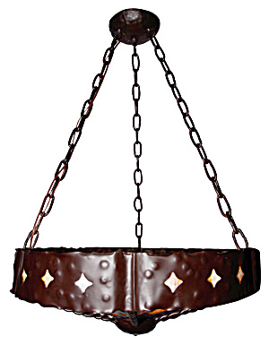 ARTS AND CRAFTS VINTAGE STYLE LIGHT FIXTURE (Image1)