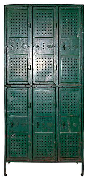 Industrial Locker Bank Of 3
