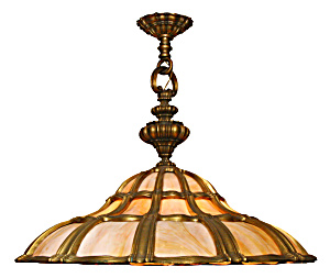ANTIQUE TIFFANY LIGHT HANGING ANTIQUE 1920S (Image1)