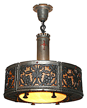 ANTIQUE ARTS AND CRAFTS  LIGHTING FIXTURE (Image1)