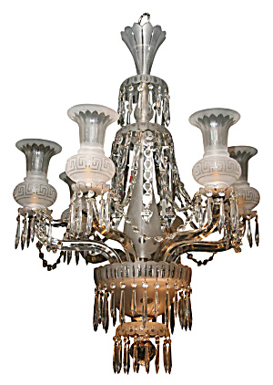 ANTIQUE CRYSTAL CHANDELIER (Image1)
