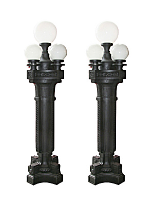 ANTIQUE MONUMENTAL LAMP STANDARDS (Image1)