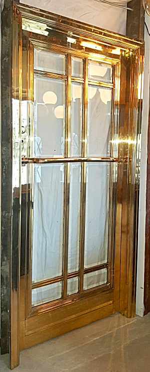 BANK DOOR WITH FRAME IN SOLID BRASS (Image1)