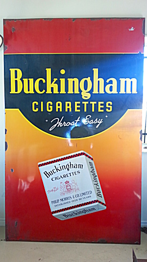 BUCKINGHAM CIGARETTE ADVERTISING SIGN...HUGE (Image1)