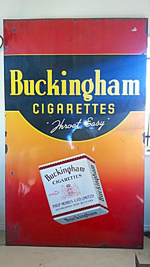 BUCKINGHAM CIGARETTE ADVERTISING SIGN...HUGE (Image1)