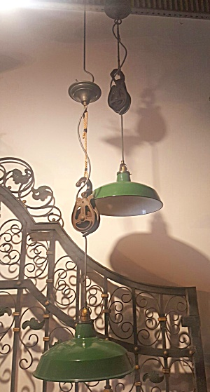 pulley lights vintage industrial (Image1)