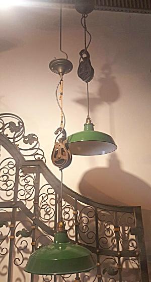 pulley lights vintage industrial (Image1)