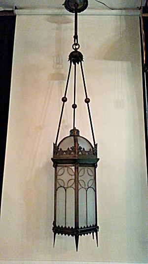 Large vintage pendant light (Image1)