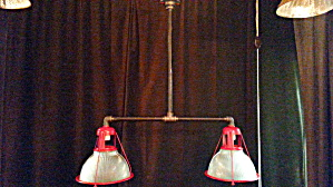 INDUSTRIAL VINTAGE HALOPHANE KITCHEN LIGHT (Image1)