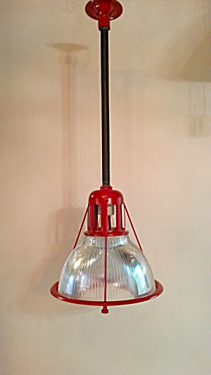 INDUSTRIAL VINTAGE HALOPHANE GLASS PENDANTS (Image1)