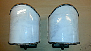 Vintage Bent Glass Sconces
