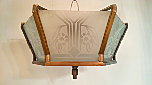 Deco Flush Mount Light 1930