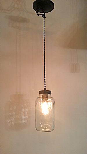 Mason Jar  pendant light (Image1)
