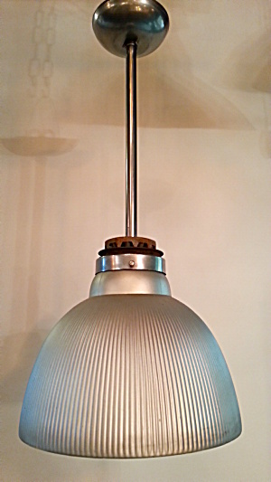 Industrial Mercury Glass Light Vintage