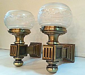 Bronze wall sconces...pair (Image1)