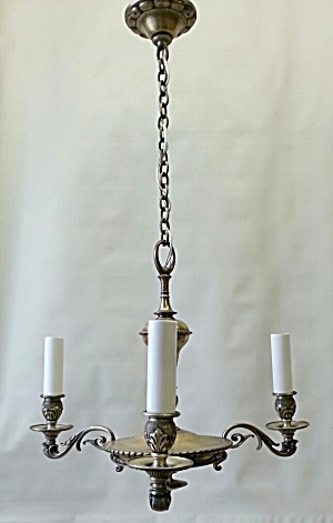 SILVER PLATE SMALL HANGING LIGHT (Image1)