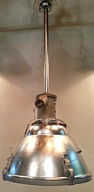 VINTAGE FACTORY LIGHT--HUGE (Image1)