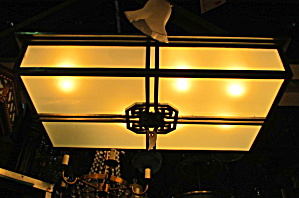 Deco oversized flush mount light fixture pair (Image1)
