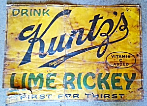 KUNTZ'S LIME RICKEY SIGN (Image1)