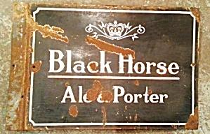 BLACK HORSE SIGN (Image1)