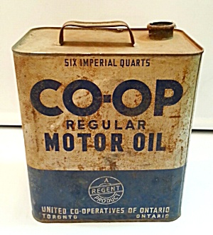 OLD MOTOR OIL TIN (Image1)