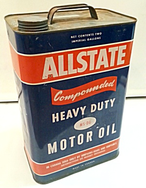 OLD ALLSTATE MOTOR OIL CAN (Image1)