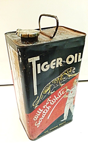 Tiger Oil Tin