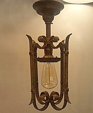 ANTIQUE PENDANT LIGHTS...SET OF 4 (Image1)