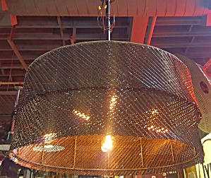 Huge Pendant In Vintage Mesh